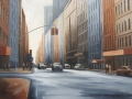 Crosstown Street, 30 x 40 inches, oil on canvas, 2011